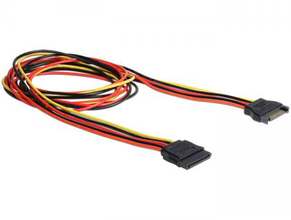 SATA Stromkabel, Power SATA 15 Pin Stecker an Buchse, 1m, Delock® [60133]