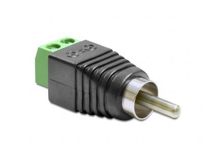 Adapter Cinchstecker an Terminalblock 2 Pin, Delock® [65417]
