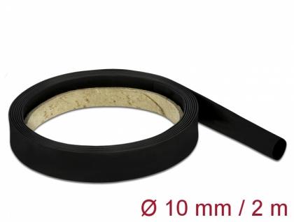 Schrumpfschlauch 2 m x 10 mm schwarz, Delock® [18981]