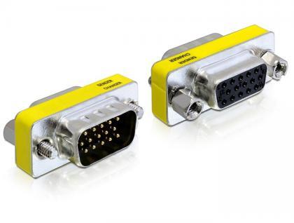 Adapter VGA Stecker an Buchse, Portschoner, Delock® [65250]