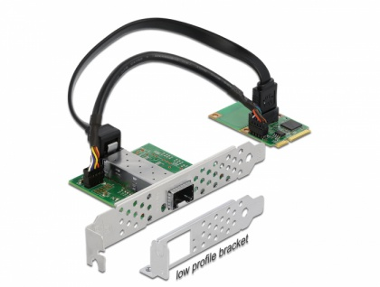 Mini PCIe I/O PCIe full size 1 x SFP Gigabit LAN, Delock® [95267]