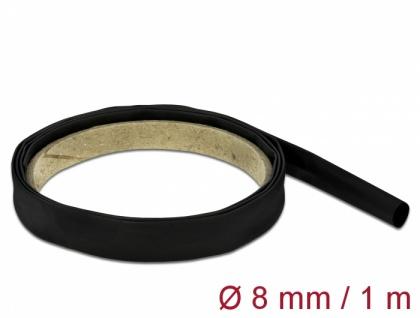 Schrumpfschlauch 1 m x 8 mm schwarz, Delock® [18973]