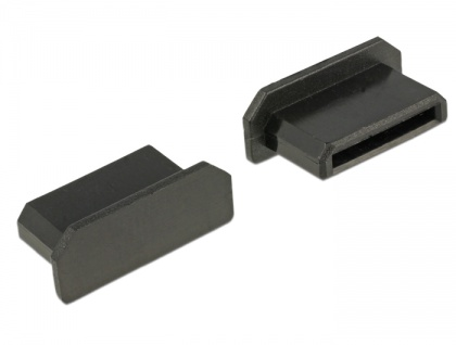 Staubschutz für HDMI mini-C Buchse, ohne Griff, 10 Stück, schwarz, Delock® [64028]