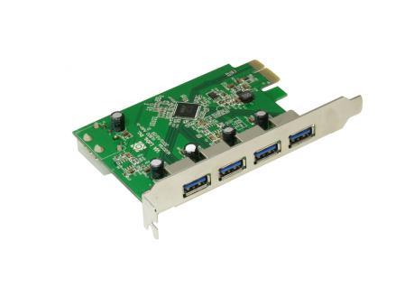 Schnittstellenkarte USB 3.0 PCI Express 4-Port