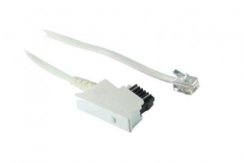 kabelmeister® Telefonanschlusskabel, TSS auf Modular Stecker 6/4, weiß, 3m
