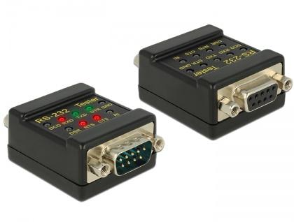 RS-232 Tester DB9 Buchse an DB9 Stecker, Delock® [87713]