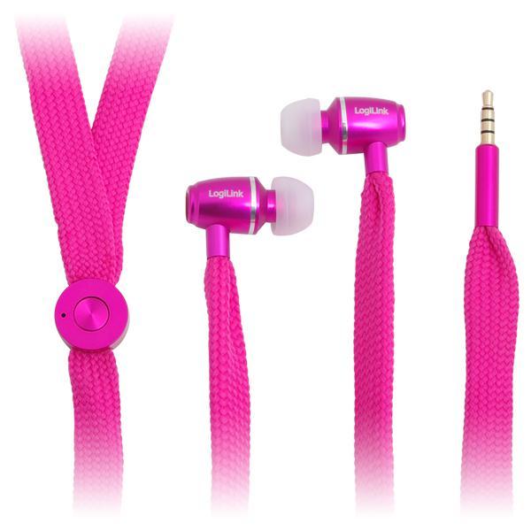 Kopfhörer, stereo, In-Ear, pink, LogiLink®, [HS0026]