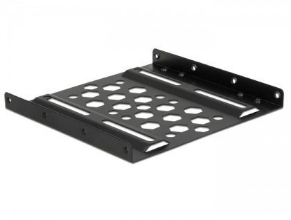 Aluminium Einbaurahmen 2.5' zu 3.5', schwarz, Delock® [21287]