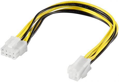 kabelmeister® Internes Stromkabel 8pol Stecker auf P4 4pol Buchse, 0, 2m