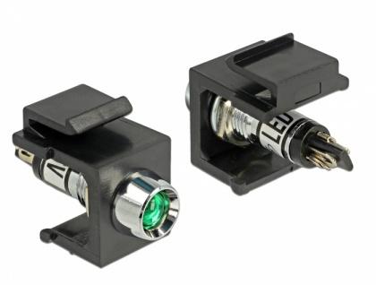 Keystone LED grün 6 V, schwarz, Delock® [86456]