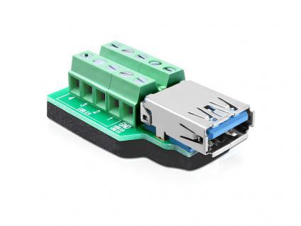 Adapter USB 3.0-A Buchse an Terminalblock 10 Pin, Delock® [65370]