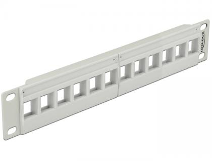 10' Keystone Patchpanel 12 Port grau, Delock® [43309]