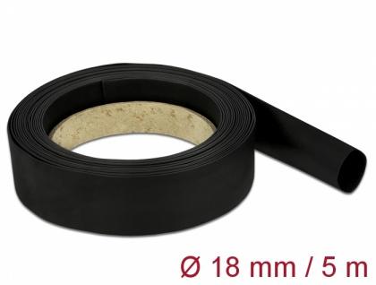Schrumpfschlauch 5 m x 18 mm schwarz, Delock® [18941]