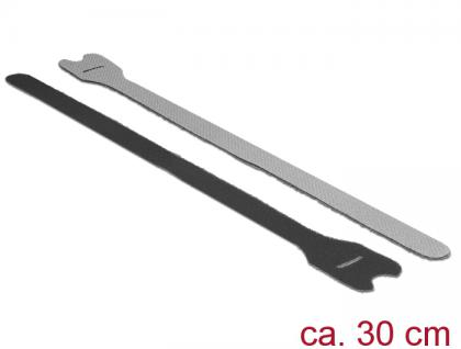 Klett-Kabelbinder L 300mm x B 12mm, 10 Stück, schwarz, Delock® [18688]
