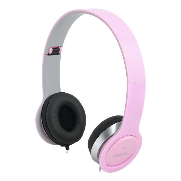 Kopfhörer, stereo, High Quality, pink, LogiLink®, [HS0032]