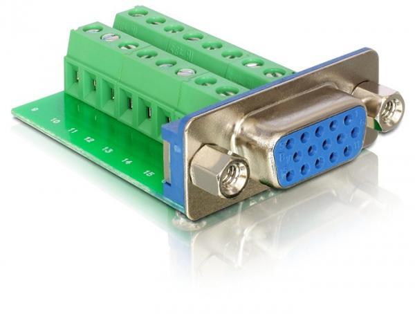 Adapter Terminalblock an VGA-Buchse, Delock® [65170]