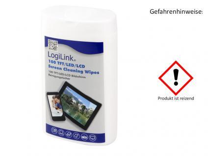 TFT, LCD und Plasma Reinigungstücher , LogiLink® [RP0010]