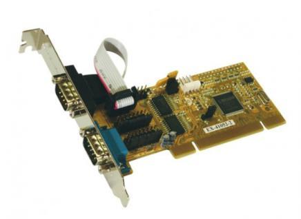 Schnittstellenkarte, PCI 2S Seriell RS-232 Karte, MosChip Chip-Set, Exsys® [EX-41052-2]