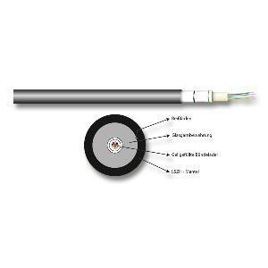 kabelmeister® Universalkabel LWL OS2 (Singlemode 9/125) 8 Fasern, Meterware - Vorschau