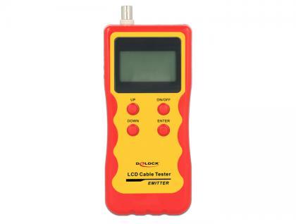 LCD Kabeltester RJ45 / RJ12 / BNC / USB, Delock® [86108]