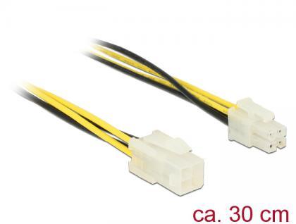 Verlängerungskabel P4 4 Pin Stecker an P4 4 Pin Buchse 0, 3m, Delock® [84954]