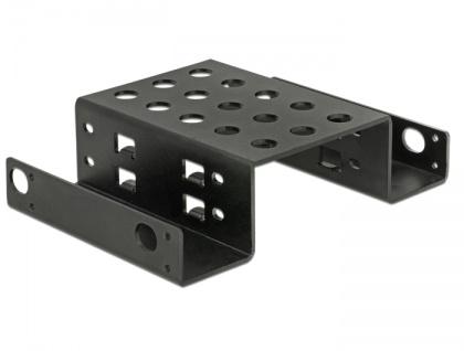 Einbaurahmen 2 x 2.5' zu 5.25' schwarz, Delock® [18270]