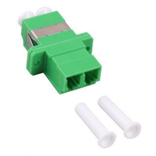 kabelmeister® LWL Duplex Kupplung LC an APC, Gehäuse: SC-Simplex, Kunststoff, grün
