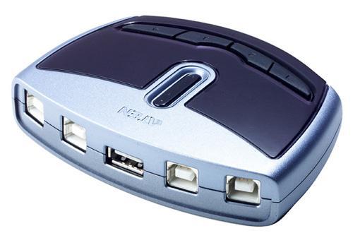 Aten® USB 2.0 Switch US-421A, 4 PC an einem USB Endgerät