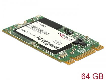 M.2 SATA 6 Gb/s SSD Industrial 64 GB (S42) Toshiba MLC -40 ____deg; C ~ 85 ____deg; C, Delock® [54783]