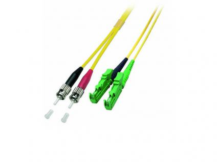 kabelmeister® Patchkabel LWL Duplex OS2 (Singlemode, 9/125) E2000®-APC/ST, 10m - Vorschau