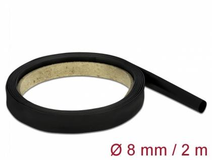 Schrumpfschlauch 2 m x 8 mm schwarz, Delock® [18980]