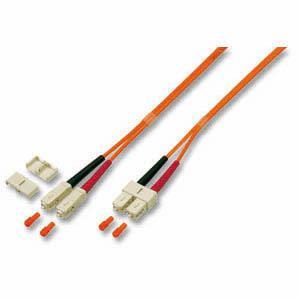 kabelmeister® Patchkabel LWL Duplex OS2 (Singlemode, 9/125) SC/SC, gelb, 20m
