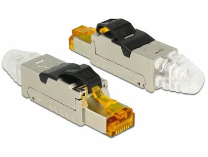 RJ45 Stecker Cat.6A, feldkonfektionierbar, Metall, Delock® [86285]