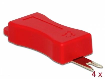 Werkzeug für RJ45 Secure Clip, 4 Stück, Delock® [86412]