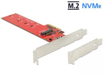 PCI Express x4 Karte an 1 x intern NVMe M.2 NGFF Key M 110 mm - Low Profile Form Faktor Delock® [89455]