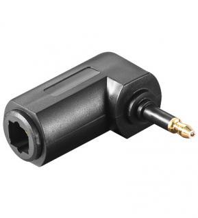 Adapter Toslink Buchse an 3, 5mm Mini Winkelstecker, schwarz, Good Connections®