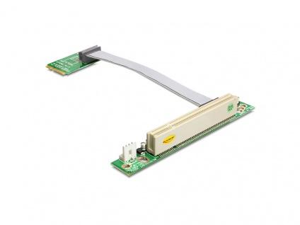 Schnittstellenkarte, Riser PCI Express Mini an PCI 32Bit 5 V mit flexiblem Kabel 13 cm links gerichtet, Delock® [41359]