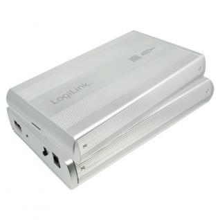 LogiLink® Festplattengehäuse 3, 5' SATA USB 2.0 Alu, Silber [UA0082A]