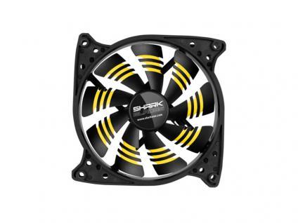Gehäuselüfter SHARK Blades, 3-Pin-/5, 25'-Anschluss, 120x120x25, gelb, Sharkoon®