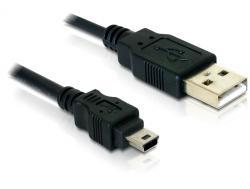 Kabel, USB 2.0 an USB-B mini 5pin Stecker an Stecker, Delock® [82252]