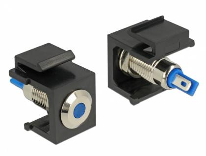 Keystone LED blau 6 V flach, schwarz, Delock® [86461]