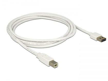 Kabel EASY-USB 2.0 Typ-A Stecker an USB 2.0 Typ-B Stecker, weiß, 2 m, Delock® [83687]