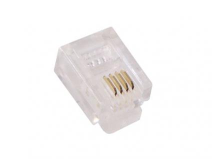 kabelmeister® Modularstecker RJ69 , 10P10C, ungeschirmt, für Rund- und Flachkabel