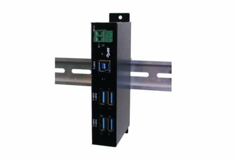 Hub, USB 3.0, 4 Port, Metallgehäuse, inkl. Din-Rail, Exsys® [EX-1185HMVS] - Vorschau