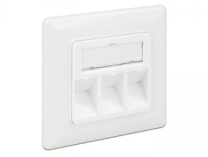 Keystone Anschlussdose 3 Port kompakt, Delock® [86194]