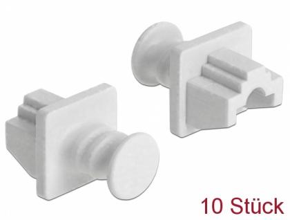 Staubschutz für RJ45 Buchse, 10 Stück, weiß, Delock® [86507]