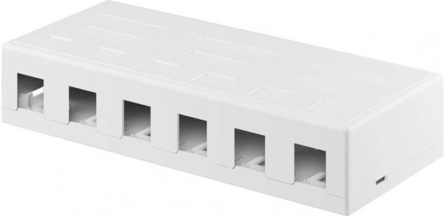 KeyStone Leergehäuse 6-port, Snap-In Montage, weiß
