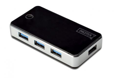 Hub, USB 3.0, 4-Port, schwarz, Digitus® [DA-70231]