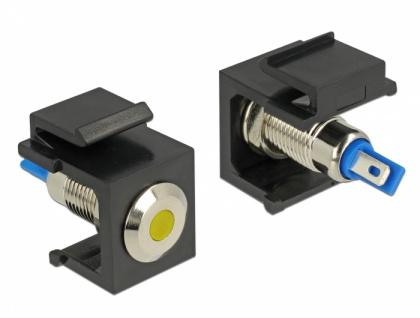 Keystone LED gelb 6 V flach, schwarz, Delock® [86462]