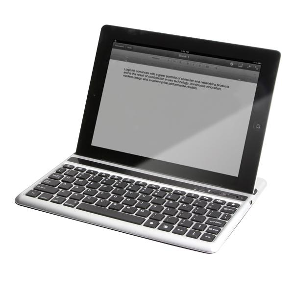 Tastatur für iPad® 2/the new iPad®, via Bluetooth, LogiLink®, [ID0107]